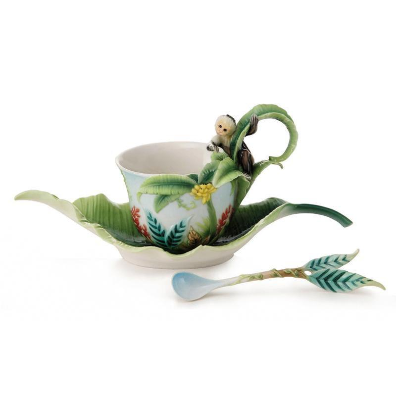 Franz Collection Monkey Mischief Teacup & Saucer FZ02002