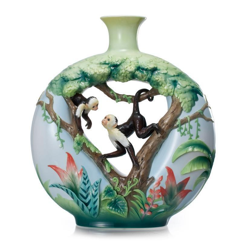 Franz Collection Monkey Mischief Vase Large FZ02007