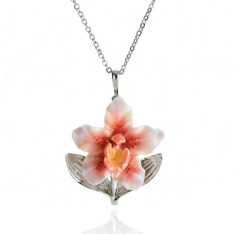 Franz Collection Orchid Necklace FJ00101