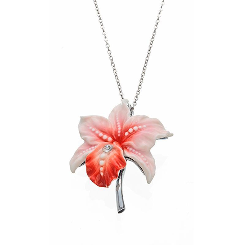 Franz Collection Orchid Necklace FJ00214
