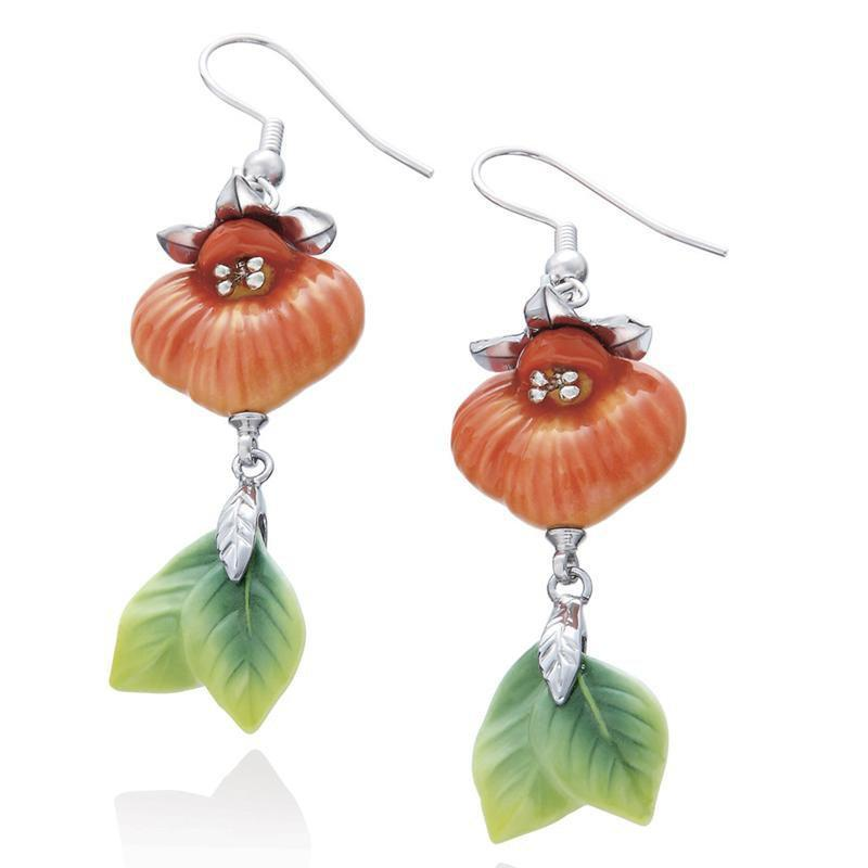 Franz Collection Orchid Pocket Book Earrings FJ00197