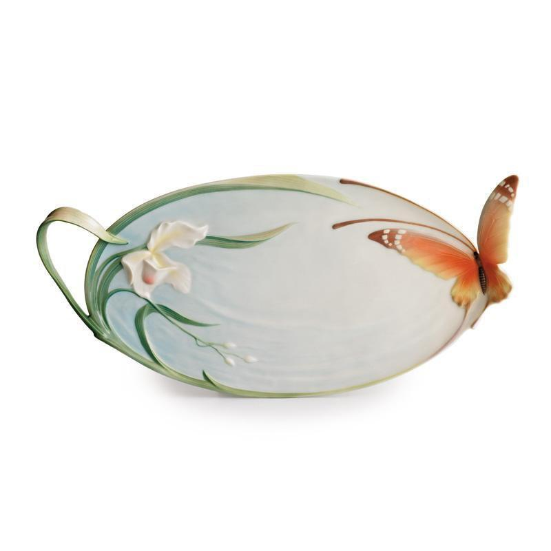 Franz Collection Papillon Butterfly Handle Tray XP1694