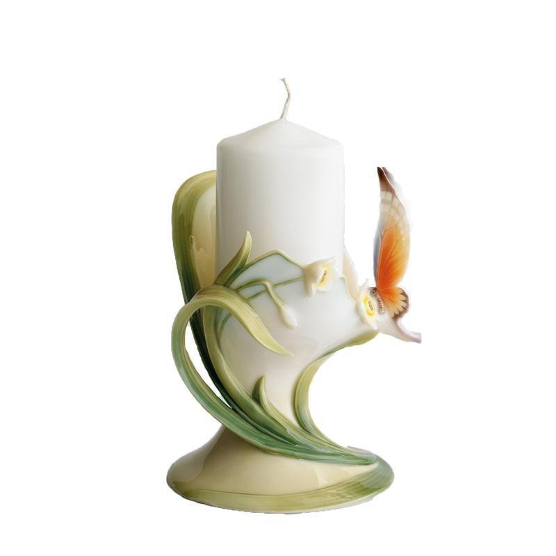 Franz Collection Papillon Butterfly Pillar Candleholder FZ00446