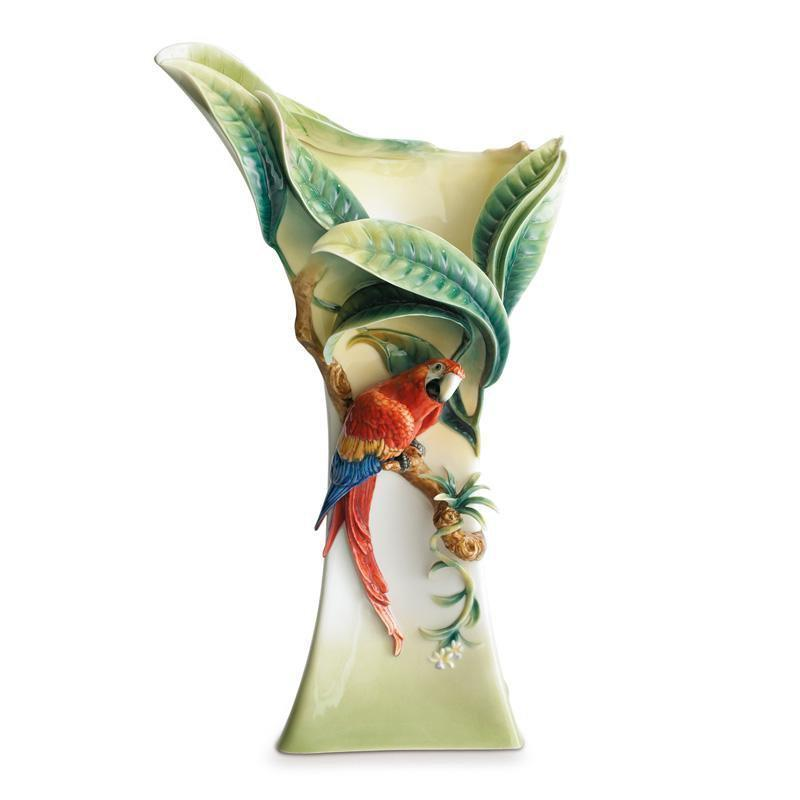 Franz Collection Paradise Calling Parrot Vase FZ00744