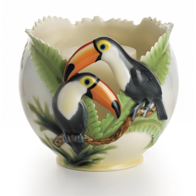 Franz Collection Paradise Calls Toucan Candleholder FZ00409