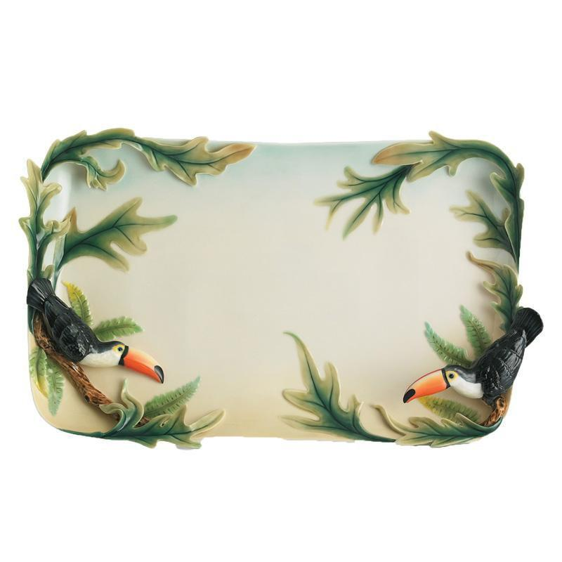 Franz Collection Paradise Calls Toucan Large Tray FZ01261