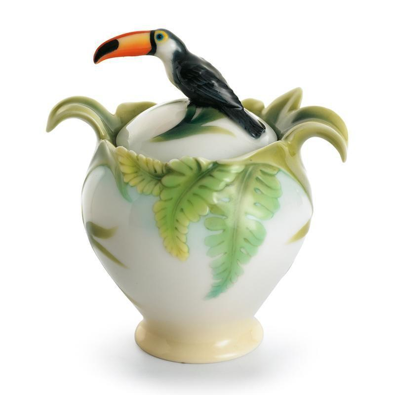 Franz Collection Paradise Calls Toucan Sugar Jar FZ00344