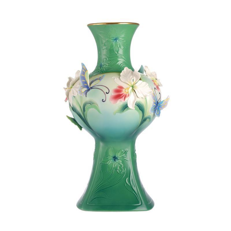 Franz Collection Peace & Blessings Orchid Butterfly Vase FZ03061