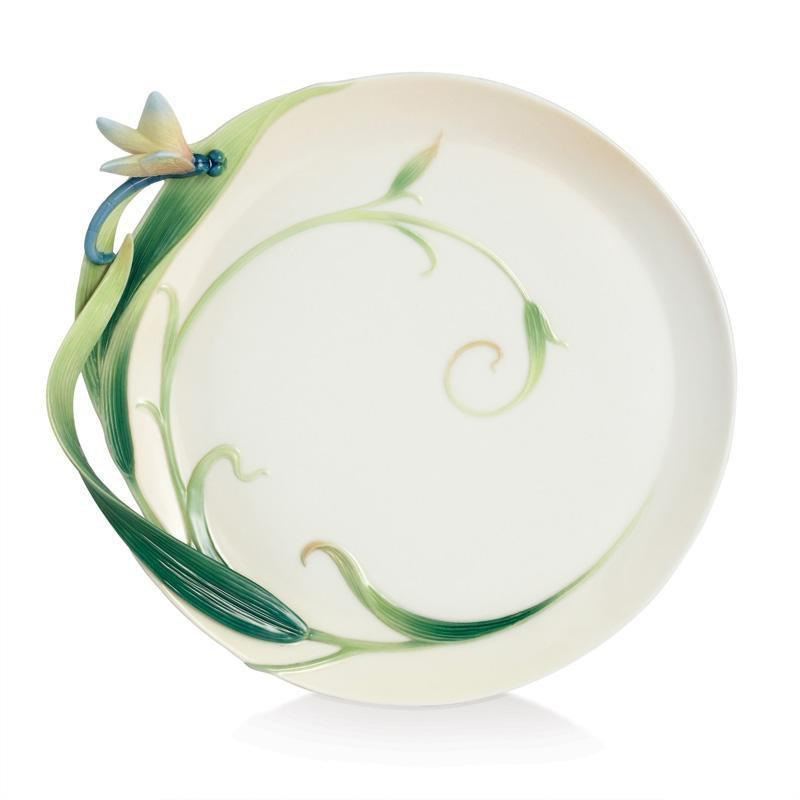 Franz Collection Peace & Harmony Bamboo Porcelain Ornamental Round Plate FZ02124