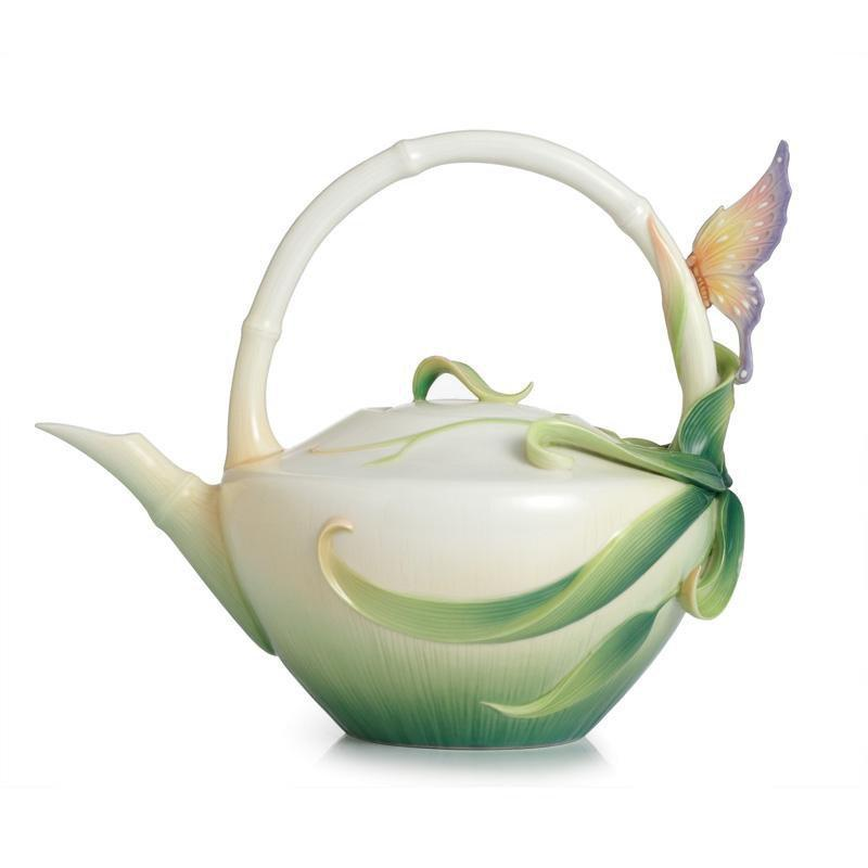 Franz Collection Peace & Harmony Bamboo Porcelain Teapot FZ02122