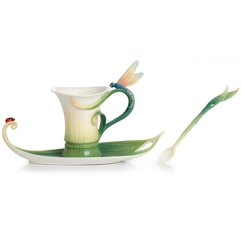 Franz Collection Peace & Harmony Bamboo Teacup Saucer FZ02120