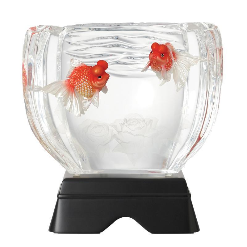 Franz Collection Pearl Scale Goldfish Lucite Figurine FL00093