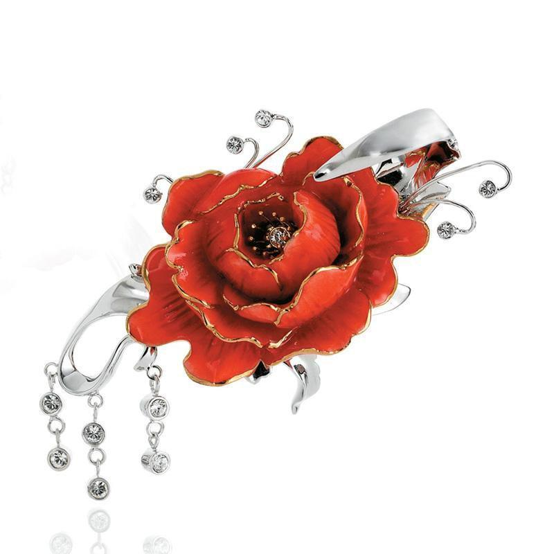 Franz Collection Peony Pin FJ00107