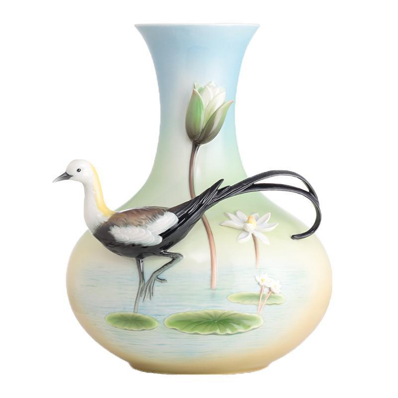 Franz Collection Pheasant Tailed Jacana Large Vase FZ02672