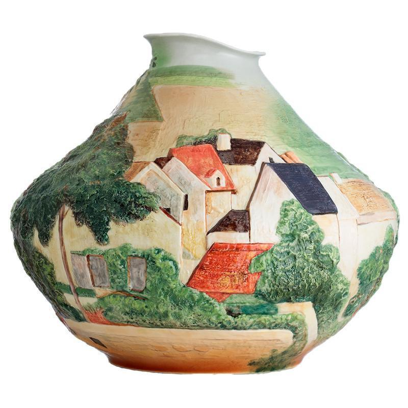 Franz Collection Philadelphia Museum Art Landscape At Auvers Medium Vase FZ02679