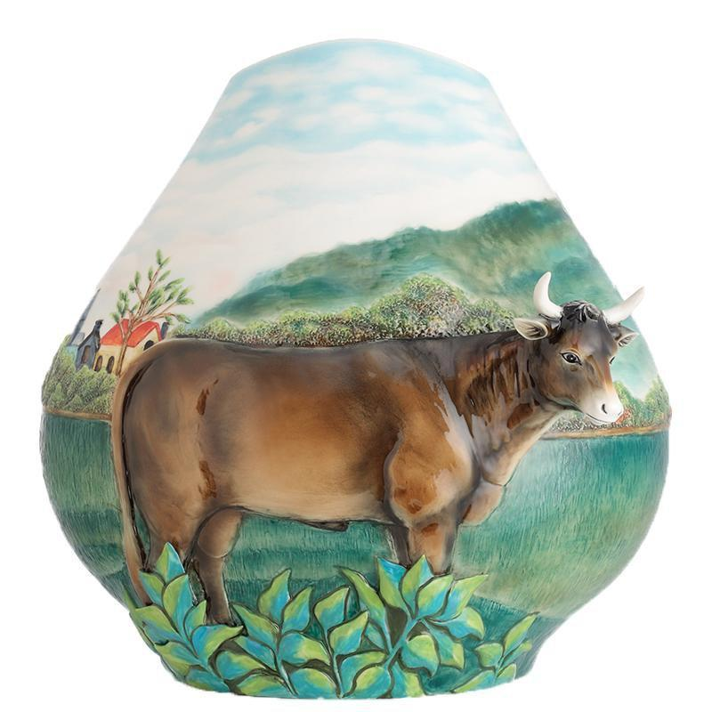Franz Collection Philadelphia Museum Art Landscape With Cattle Medium Vase FZ02681
