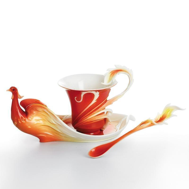 Franz Collection Phoenician Flight Teacup Saucer FZ01739