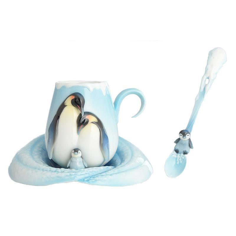 Franz Collection Playful Penguins Teacup, Saucer, Spoon FZ02118
