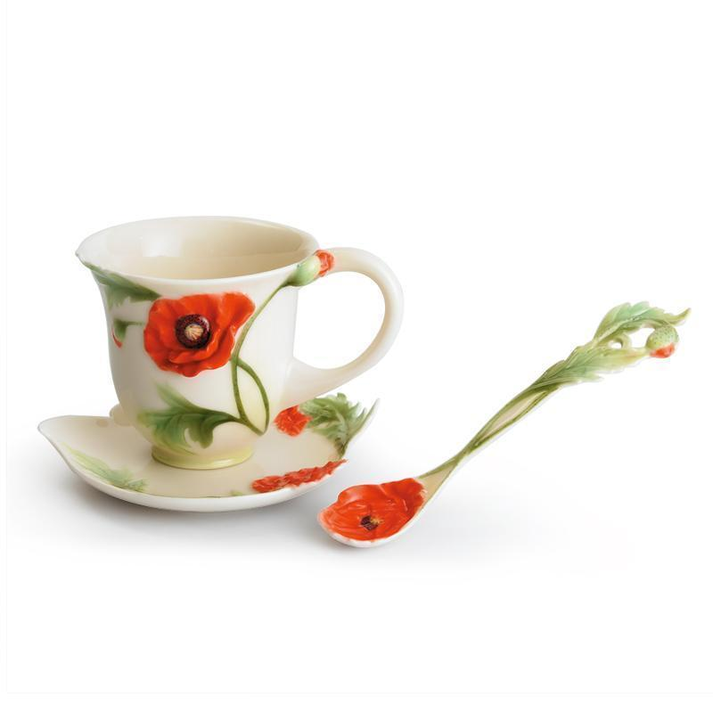Franz Collection Poppy Cup & Saucer FZ00523