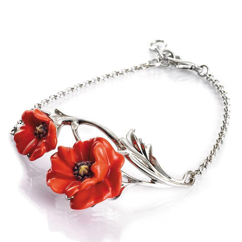 Franz Collection Poppy Flower Bracelet FJ00185