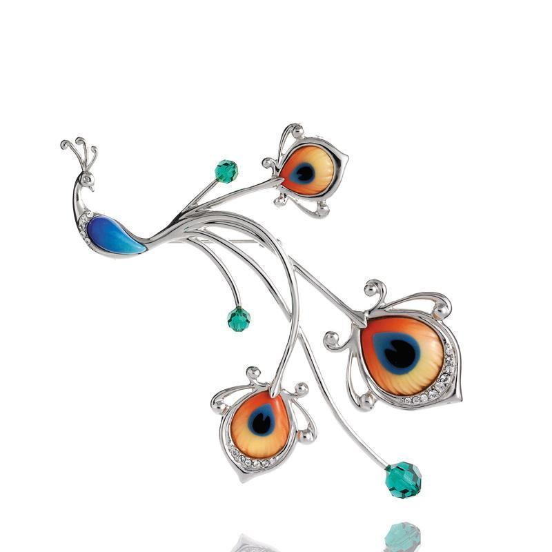 Franz Collection Proud Peacock Pin FJ00149