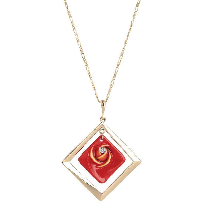 Franz Collection Red Rose Necklace FJ00284