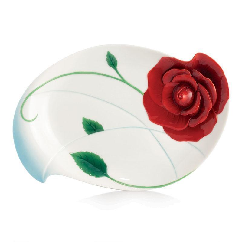 Franz Collection Romance Of The Rose Dessert Plate FZ02660