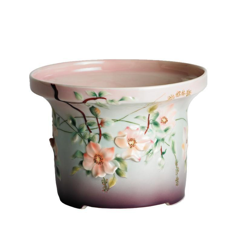 Franz Collection Rose Cache Pot FZ00719