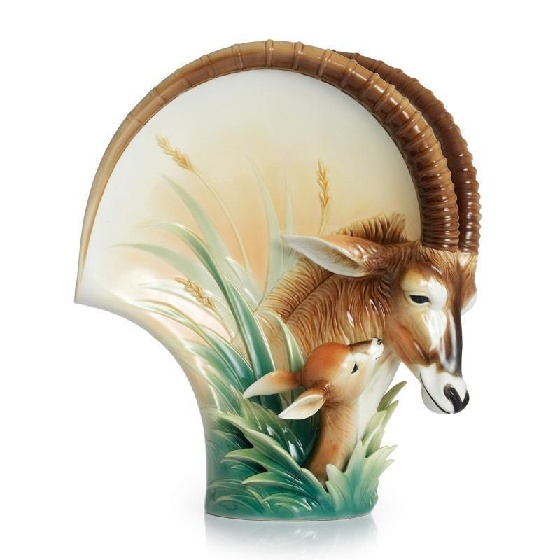 Franz Collection Sable Antelope Porcelain Mid Size Vase FZ02334
