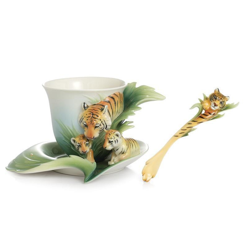Franz Collection Safari Jungle Tiger Baby Teacup Saucer FZ02040
