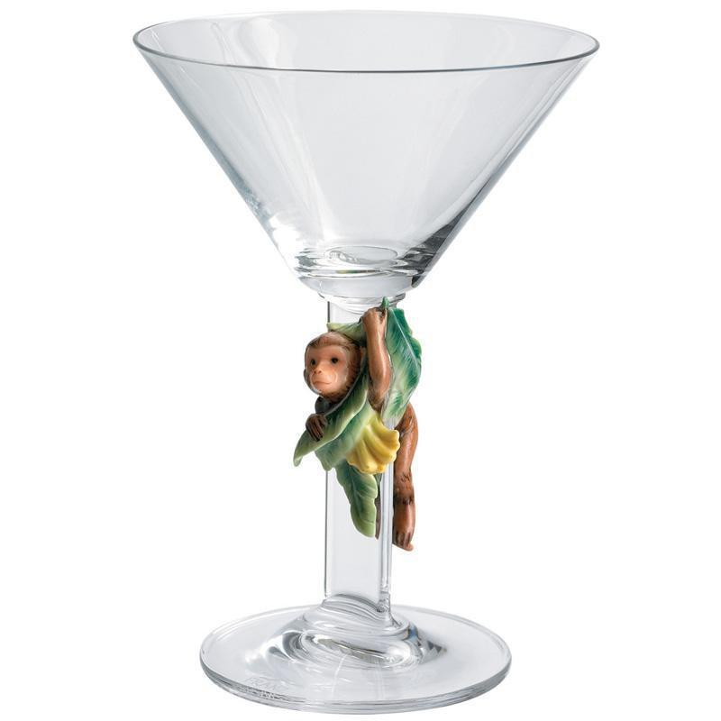 Franz Collection Safari Monkey Martini Glass FZ01135
