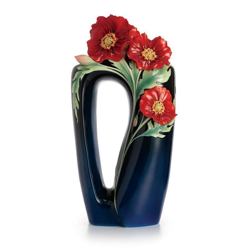 Franz Collection Serenity Poppy Flower Large Vase FZ02425