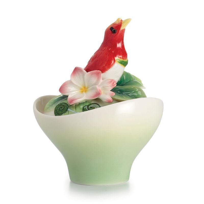 Franz Collection Shangri La Bird Of Paradise Flower Sugar Jar FZ02420