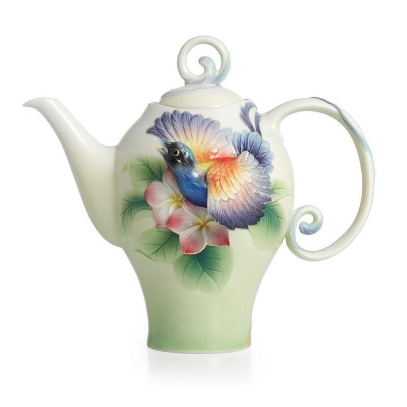 Franz Collection Shangri La Bird Of Paradise Teapot FZ02389