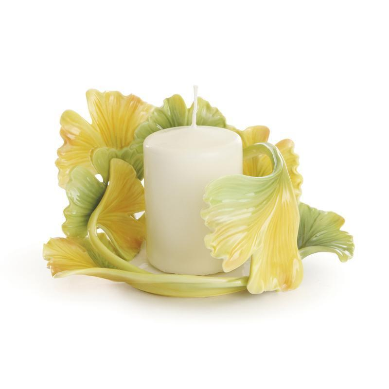 Franz Collection Spa Gingko Candleholder FZ01943