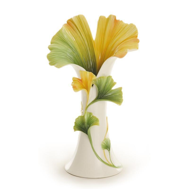 Franz Collection Spa Gingko Vase FZ01948