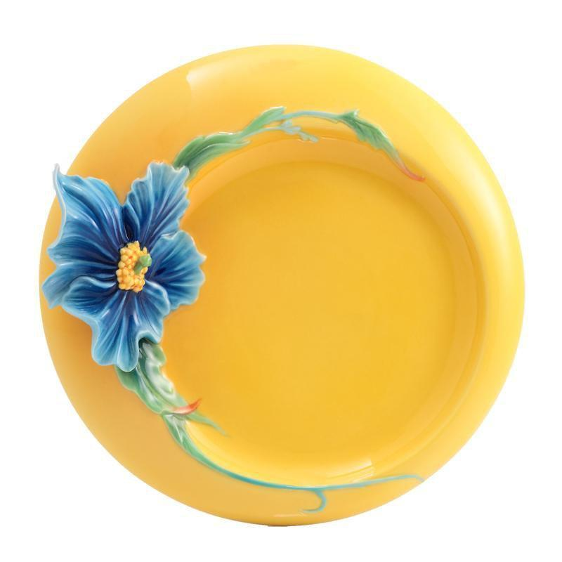 Franz Collection Strength & Will Blue Poppy Dessert Plate FZ02929