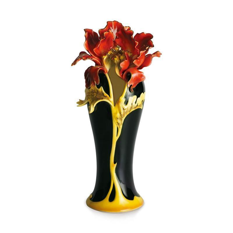 Franz Collection Striking Vermillion Peony Vase FZ00689