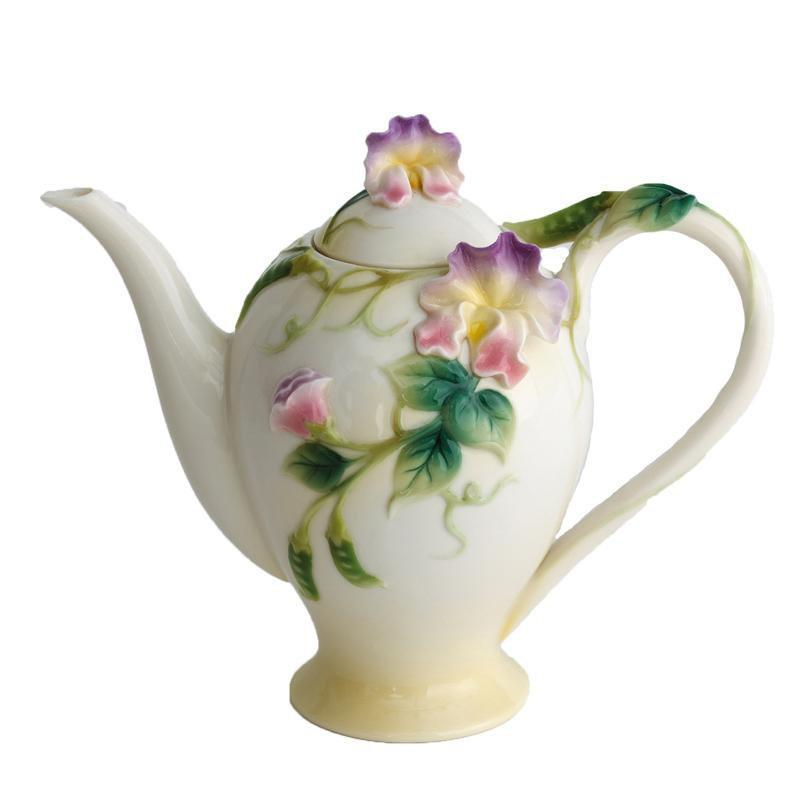 Franz Collection Sweet Pea Teapot FZ00416