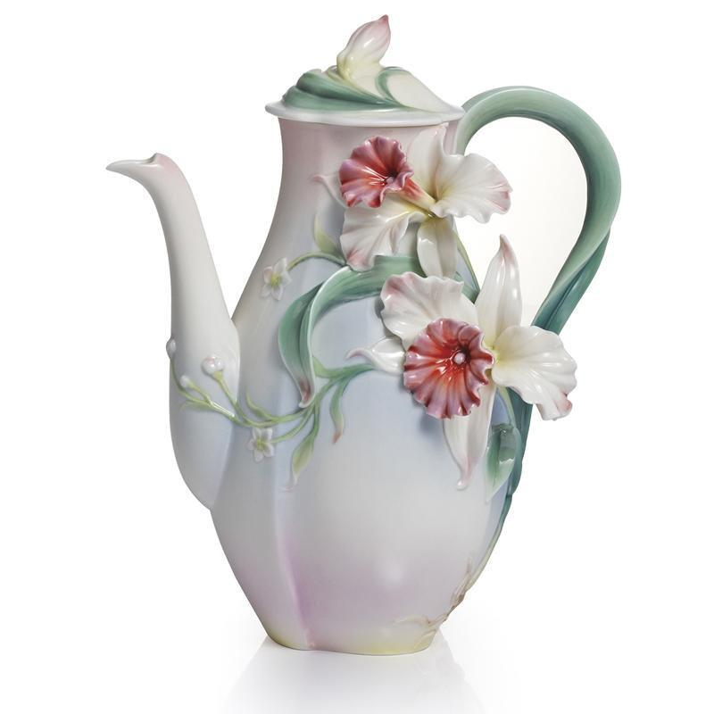 Franz Collection Tea For Two Orchid Teapot FZ01966