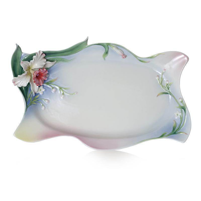 Franz Collection Tea For Two Orchid Tray FZ01968