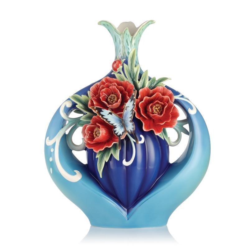 Franz Collection The Everlasting Blessings Evergreen Peony Vase FZ03076