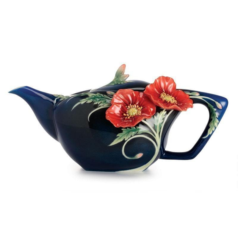 Franz Collection The Serenity Poppy Teapot FZ02476
