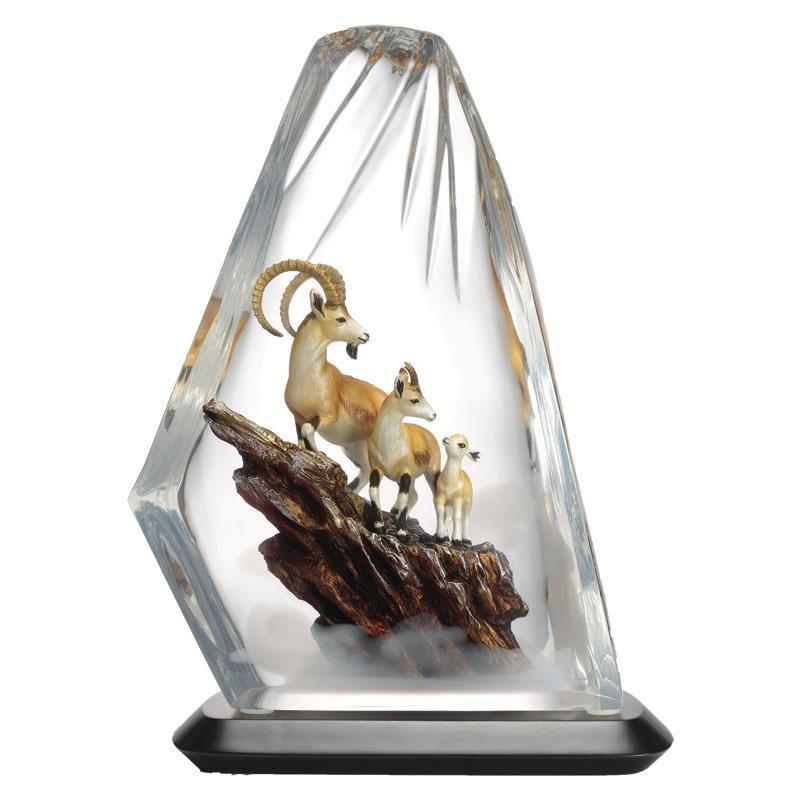 Franz Collection Three Goats Prosperity Lucite Figurine FL00100