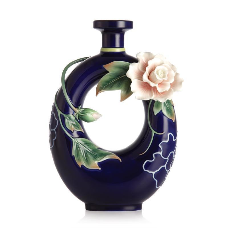 Franz Collection Tranquility Cotton Rose Vase FZ02888