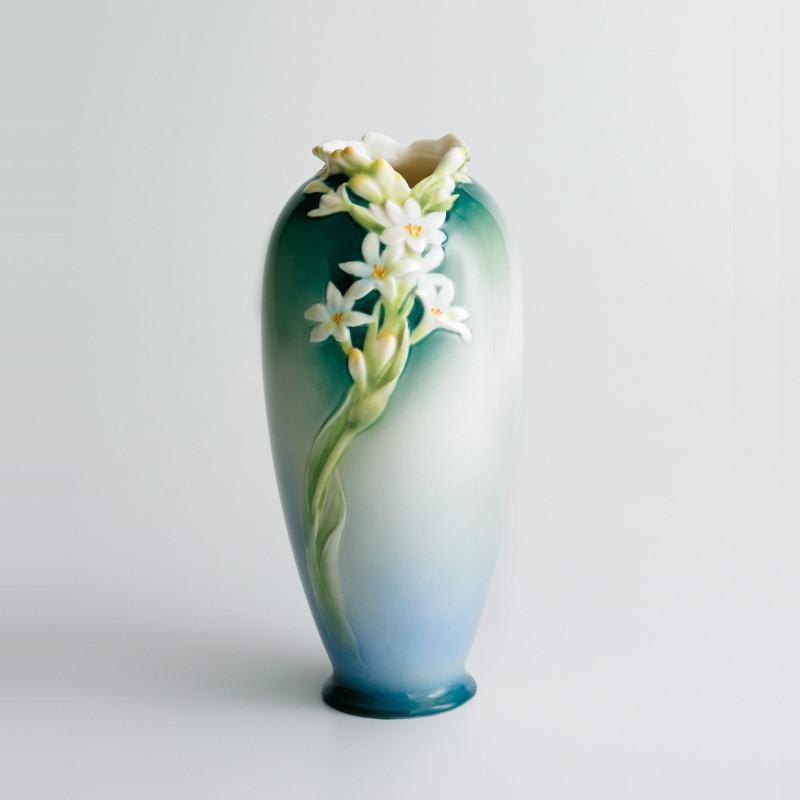 Franz Collection Tuberose White Vase XP1893