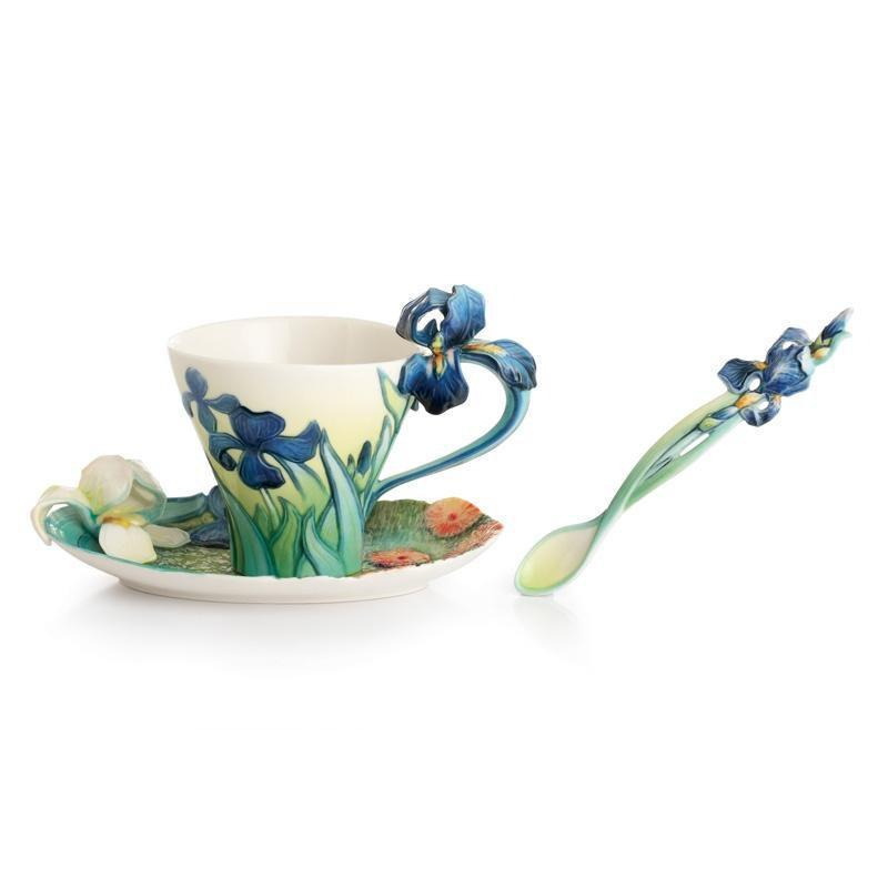 Franz Collection Van Gogh Iris Teacup Saucer & Spoon FZ02453