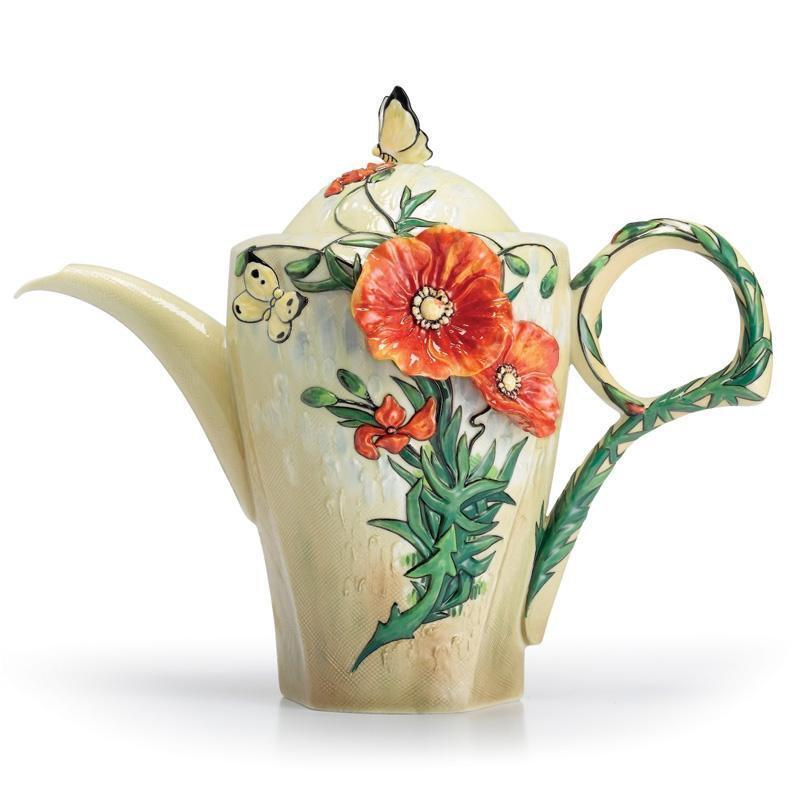 Franz Collection Van Gogh Poppy Flower Teapot FZ02627