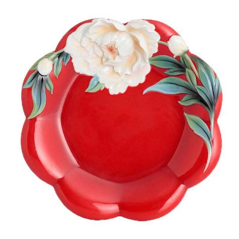 Franz Collection Venice Peony Cake Plate FZ02734