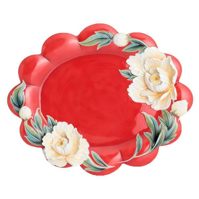 Franz Collection Venice Peony Large Tray FZ02742
